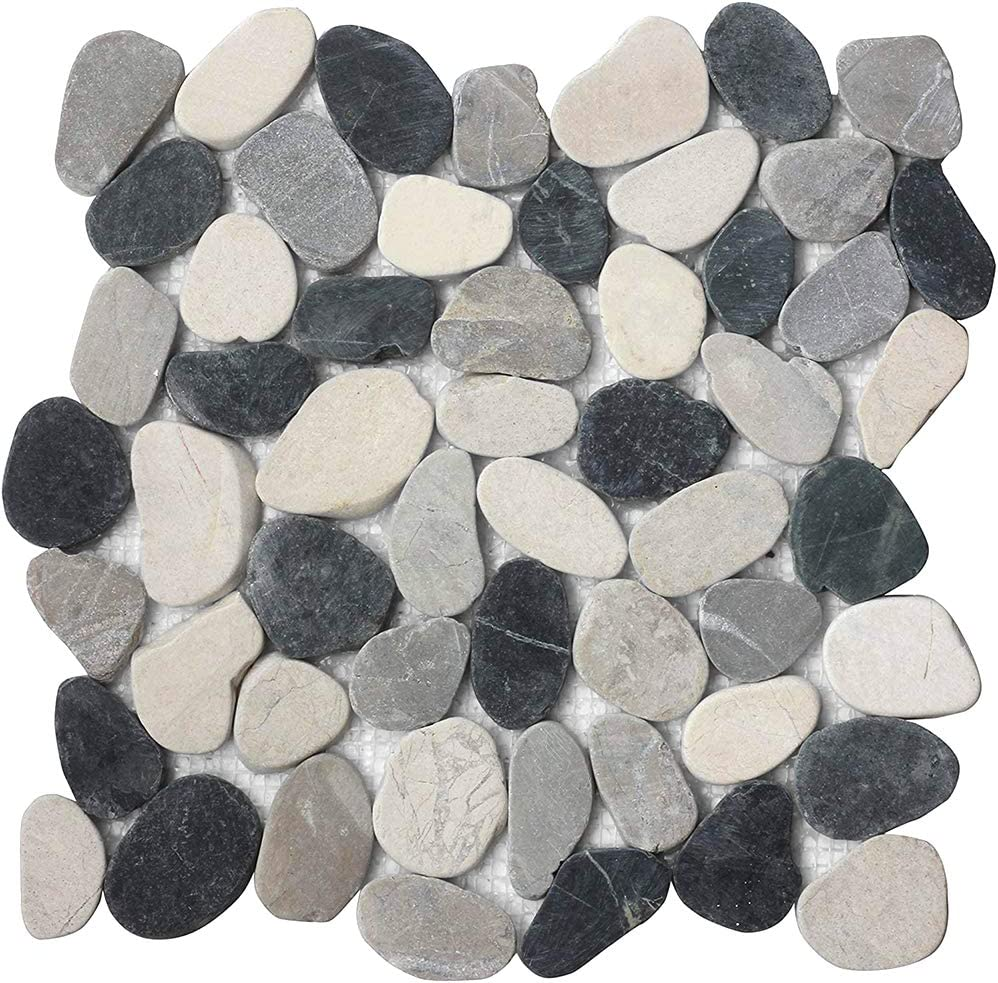 FuStone Decorative NEW Direct sale of manufacturer before selling ☆ Tiles Interlocking Tumbled Pebble 10-S