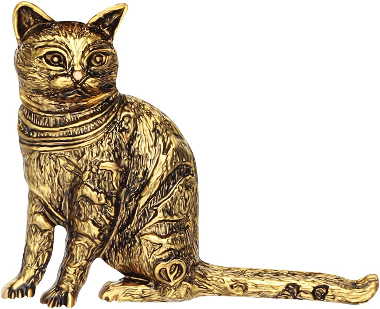 NEWEI Department store Plated Alloy Antique Gold Cheap super special price Brooch Cat Kitten Sliver Sitting