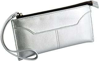 XHHWZB PU Material Simple Hand-held Wallet with Hand Strap, Lychee Texture