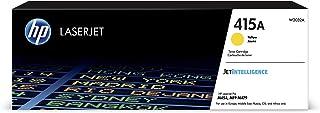 HP 415A W2032A, Amarillo, Cartucho Tóner Original, de 2.100 páginas, para impresoras HP Color LaserJet Pro M454dw, M454dn,...