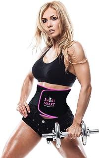 SWEAT SMART Waist Trimmer Premium Weight Loss Ab Belt for Men Women Workout Sweat Enhancer Exercise Adjustable Wrap for Stomach- Enjoy Sweet Abdominal Muscle Back Support