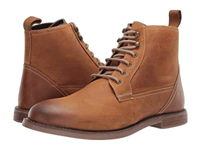 Ben Sherman Birk Plain Toe Boot (Tan Leather) Men