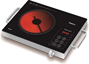 Impex IR-2703 2000 W Infrared Induction Cooktop With 8 Temperature Levels and 4 Digital LED Display