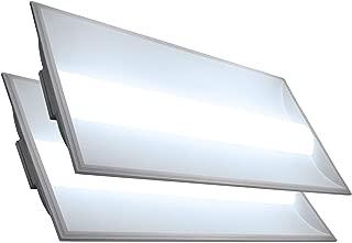 LED 2x4 Center Basket Troffer Panel (2 Pack) 35W; 10 Year Warranty; 4,550 Lumens; 120V-277V AC/DC; 0-10V Dimmable; 50,000 Life Hours; CRI>80; UL/DLC Listed (Daylight 500K)