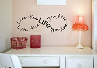 Imprinted Designs Live the Life You Love. Bob Marley Infinity Quote Vinyl Wall Decal Sticker Art (Black, 21