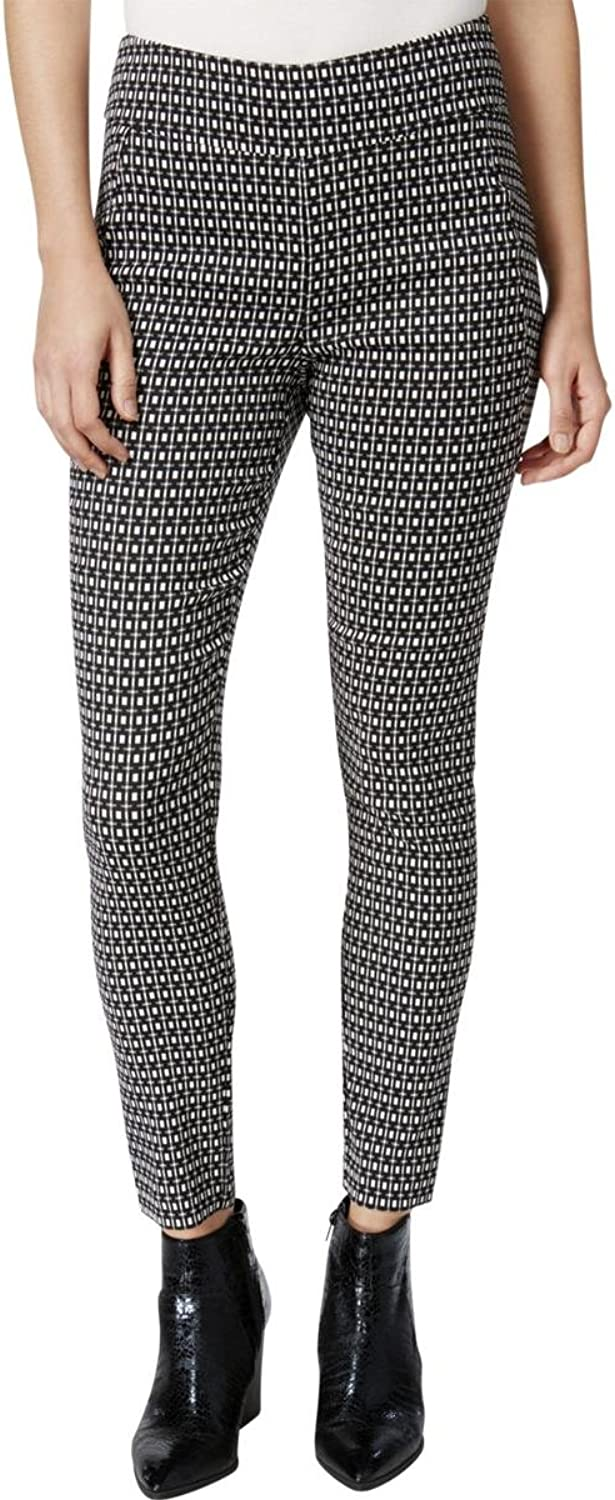 Bar III Womens Stretch Textured Skinny Pants