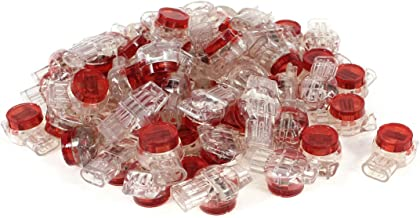 uxcell a14031900ux0663 Gel Splice UR Connector 3 Port Wire Connectors Red Clear Pack of 55