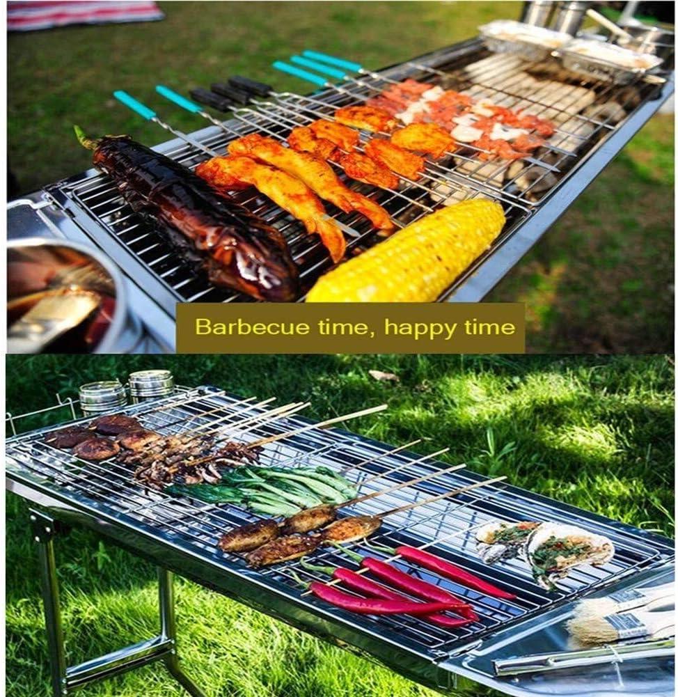 Xiaoyue Barbecue, Grill BBQ Portable, épaissie en Acier Inoxydable extérieur Barbecue au Charbon for Pique-Nique Camping Garden Party lalay (Color : Yellow) Black