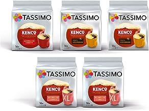 Tassimo Coffee Kenco Bundle Cápsulas de Café - Kenco Americano Smooth/Americano Grande/reine kolumbianische - 5 Paquetes (80 Porciones)