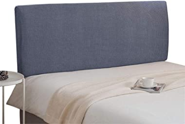 Bed Headboard Cover Stretch Head Protector Washable Removable Color Grey 120cm
