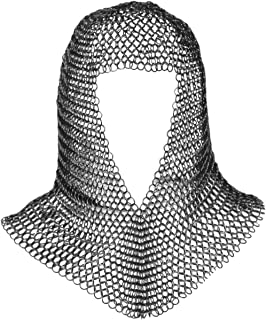 Chainmail Coif Armor Mild Steel Butted 16 Gauge Soldier Grade