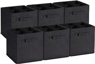 comprar comparacion UMI. by Amazon - Cubos de Almacenaje de Tela, Cajas de Almacenaje Plegables, Set de 6 Cajas de Almacenamiento, Cubos de Al...