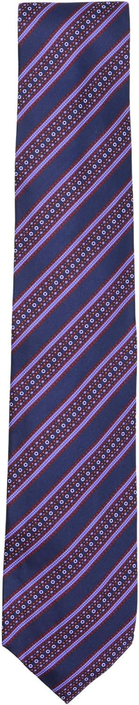 Stefano Ricci Men's 004 Navy/Red Lilac White Cravatta In Seta Stampata Luxury Necktie - One Size