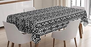 ABAKUHAUS rétro Nappe, Boho aztèque Style, Linge de Table Rectangulaire pour Salle à Manger Décor de Cuisine, 140 cm x 200...