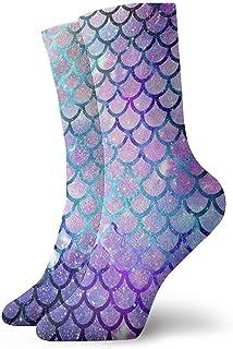 Dydan Tne, Niños Niñas Locos Escamas de Sirena Divertidas con Calcetines Galaxy Calcetines Lindos de Vestir de Novedad