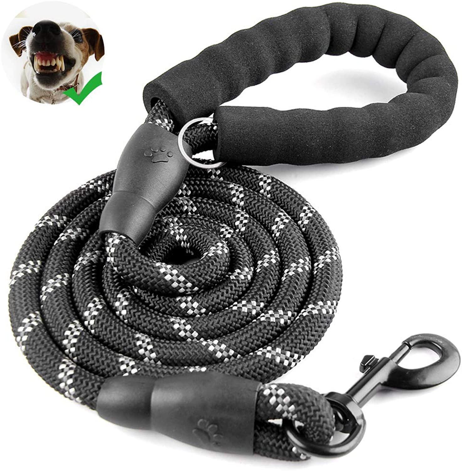 Liansheng Strong Dog Leash 5 Ft  Pet Traction Rope with Adjustable Dog Car Harness Connector Strap