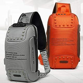 ZED- Casual Sling Bag, Mochila de Hombro Bolsas de Hombro Impermeable Crossbody Bolsa Sling Pecho Bolsas, Hombres Sport Fi...
