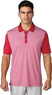 adidas Golf Men's Golf Climachill Heather Stripe Polo Shirt