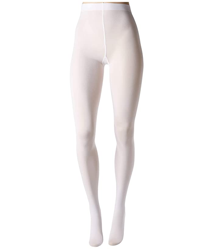 1960s Tights, Stockings, Panty Hose, Knee High Socks HUE Opaque Tights White Hose $15.00 AT vintagedancer.com