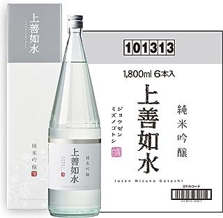 白瀧酒造 上善如水 純米吟醸 1800ml×6本