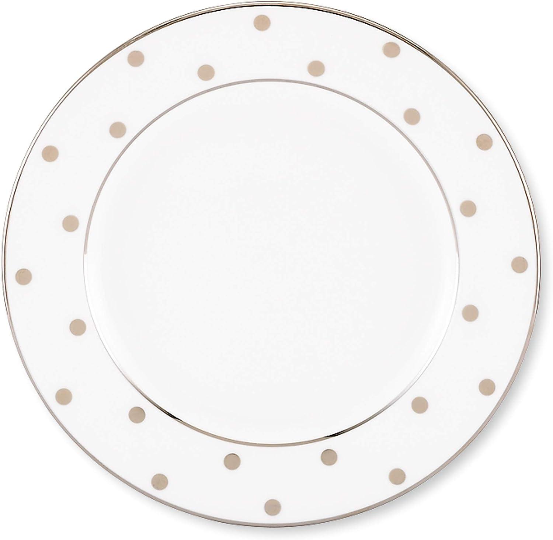 Kate quality assurance Spade Larabee Road Platinum Limited price Metallic Plate LB Bread 0.50