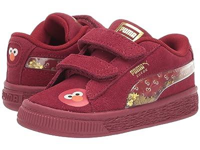 Puma Kids Sesame Street 50 Suede Statement (Toddler) (Rhubarb/Puma White) Kids Shoes
