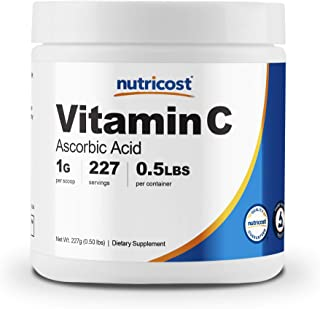 Nutricost Ascorbic Acid Powder (Vitamin C) 0.5 LBS (8 Ounce)