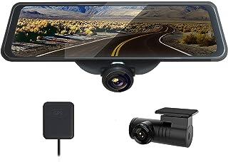 AKEEYO ドライブレコーダー 前後カメラ バックミラー型 GPS搭載 10インチ液晶 360°広角 1440P Full HD ドラレコ Gセンサー 衝撃感知 駐車監視 常時録画 ループ録画 16G SDカード付き 日本語説明書 取扱簡単 一年間安心保障 AKY-V360