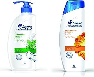 Head & Shoulders Cool Menthol Shampoo, 675ml & Anti Hair Fall Shampoo, 360ml Combo