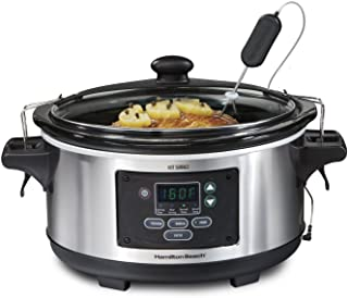 Hamilton Beach Portable 6-Quart Set & Forget Digital Programmable Slow Cooker With..