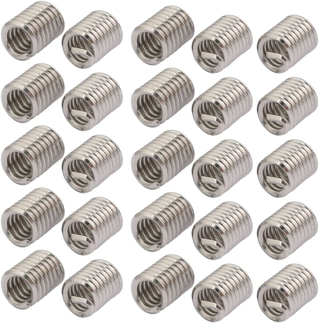 OFFicial shop uxcell Price reduction 1 4-20 304 Stainless Steel Threa Wire Helical Coil Recoil