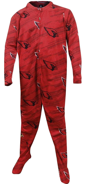 Concept Sports Men's Arizona Cardinals One Piece Footie Pajama