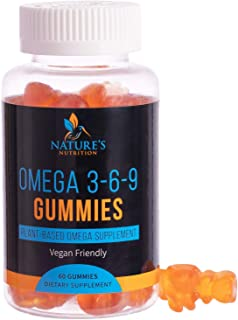 Omega 3 6 9 Gummies Extra Strength Essential Fatty Acid Supplement - Perilla Oil 369 Gummy - Best Vegan Plant-Based Heart ...