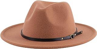 Kids Girls Vintage Wide Brim Wool Felt Bowler Cap Bowknot...