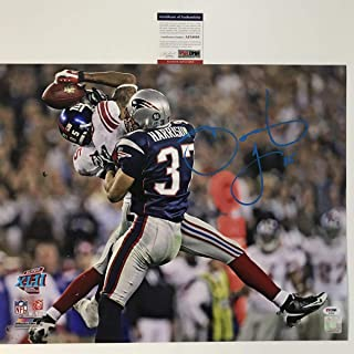 Autographed/Signed David Tyree The Catch Super Bowl XLII New York Giants 16x20 Football Photo PSA/DNA COA #3