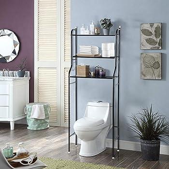 Toilette Scaffale 3/strato di ferro di bagno di Toilette di base-lavatrice/ Nero /Scaffale Scaffale per il Tenere di lenzuoli e altri articoli 56/x 25/x 151/cm