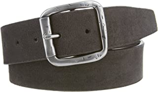 Men's Casual Suede Leather Belt Gray 1 1/2