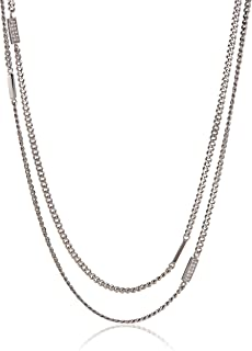 Micheal Kors Necklace for Women, Silver, MKJ3773040