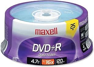 Maxell Products - Maxell - DVD+R Discs, 4.7 GB, 16 x, Spindle, Silver, 25/Pack - تُباع كعبوة واحدة - نقصات رائعة وملفات مهمة. - تسجيل عالي السرعة - سعة كبيرة - آمنة