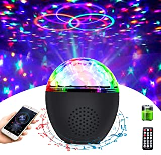 Disco Ball Light Portable Bluetooth Strobe Lights with Remote (Battery Operated) 16 Color Sound Activated Party Light for ...