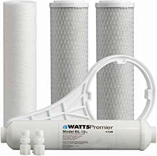 Watts Premier WP560067 Standard 5-Stage Premium Filter Kit with 10 Inch Inline, Plain