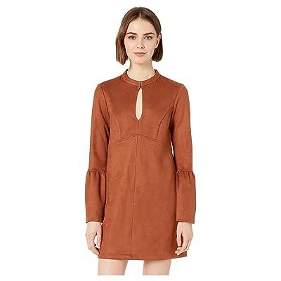 BCBGeneration Day Flare Sleeve Neck Tie A-Line Dress (Cinnamon) Women