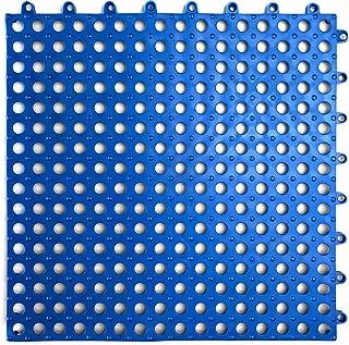 VINTEK Tile 103 Interlocking Vinyl PVC Drainage Floor Tiles Mat Non-Slip for Pool Shower Locker Bathroom Deck Patio Boat SPA Wet Area Matting Inside/Outside (Pack of 9 Tiles - 12