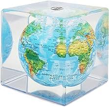Mova Relief Map Blue Globe Cube 5