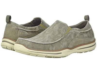 SKECHERS Relaxed Fit Elected Drigo (Taupe Canvas) Men