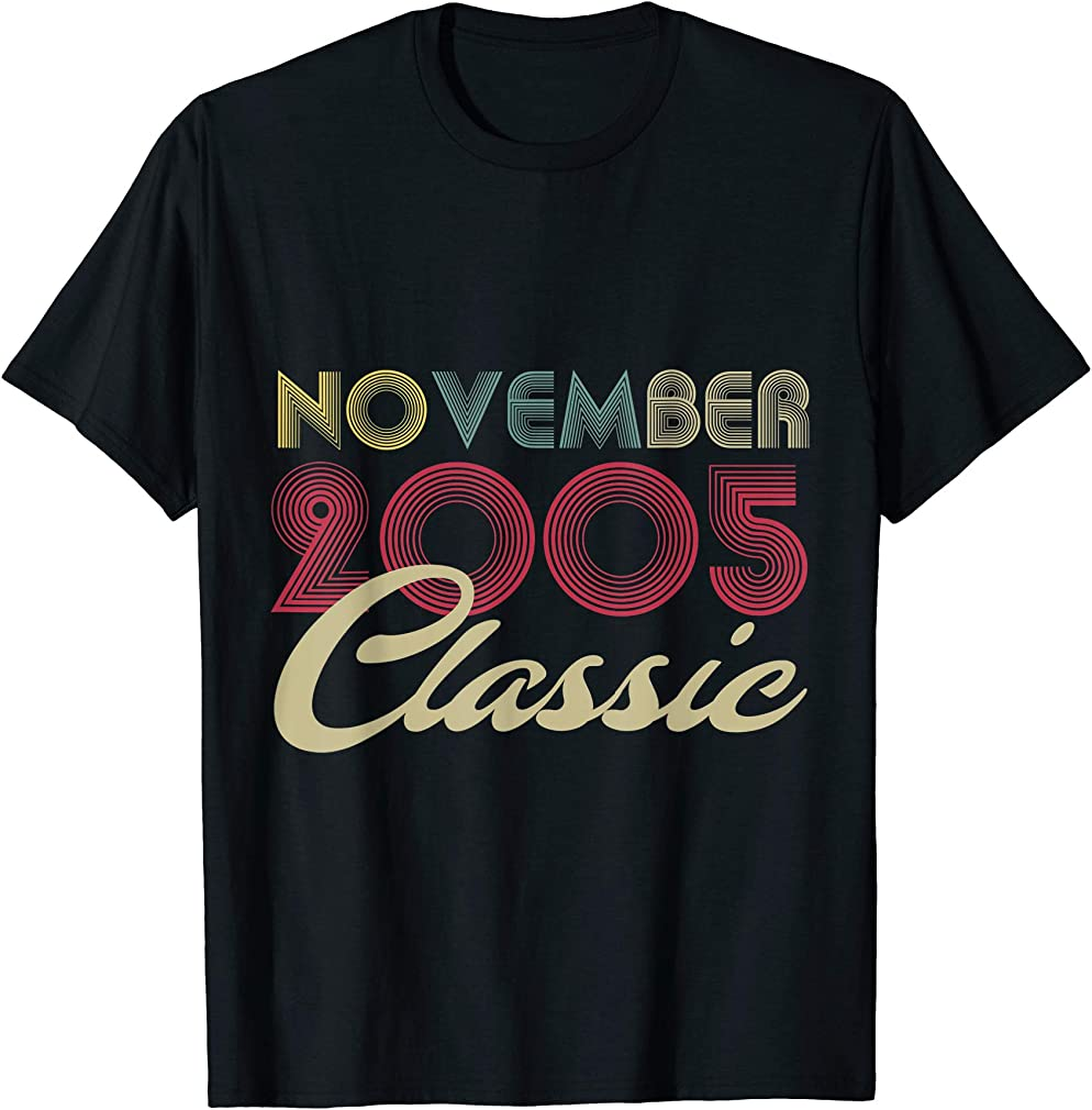 Classic November 2005 Bday Men Women Gifts 15th Birthday T-shirt