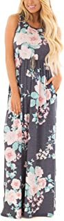 ZZER Women's Sleeveless Floral Racerback Loose Swing...