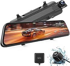 """WOLFBOX Mirror Dashcam 2.5K IPS de 10 """", cámara Frontal y cámara de visión Trasera, cámara de Doble Tablero, grabación en ..."""