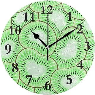 Cy-ril Reloj de Pared Redondo Kiwi Love Clock para la decoración del hogar Creativo
