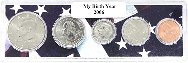 2006-5 Coin Birth Year Set in American Flag Holder Uncirculated